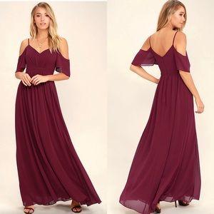 Lulus Red Wine Maxi Dress